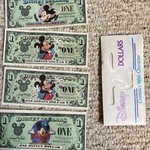 1998 2000 and 2001 Disney dollars a series